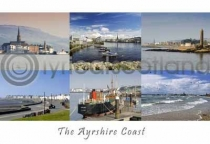 Ayrshire Coast - North Composite Postcard (HA6)