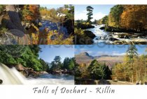 Falls of Dochart at Killin Postcard (H A6 LY)