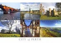 City of Perth Composite Postcard (HA6)