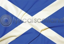 Saltire Flag Postcard (HA6)