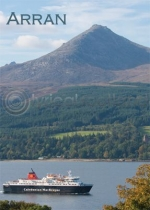 Arran - Ferry & Goatfell Magnet (V LY)