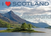 I Love Scotland - Loch Leven Magnet (H LY)