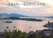 Oban Bay Sunset - Scotland Magnet (H)