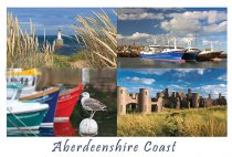 Aberdeenshire Coast Composite Postcard (H A6 LY)