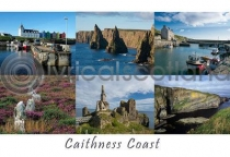 Caithness Coast Composite Postcard (HA6)