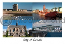 City of Dundee Composite Postcard (HA6)