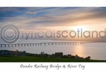 Dundee Railway Bridge & River Tay Postcard (HA6)