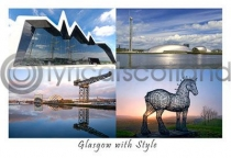 Glasgow with Style Composite Postcard (H A6 LY)