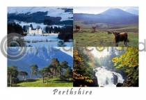 Perthshire Composite 1 Postcard (H A6 LY)