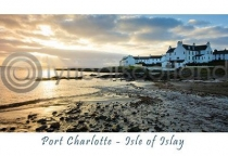 Islay - Port Charlotte - Isle of Islay Postcard (HA6)