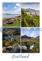 Scotland Composite 1 Postcard (VA6)