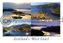 Scotland's West Coast Composite 1 Postcard (HA6)