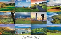Scottish Golf Composite Postcard (H A6 LY)