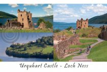 Urquhart Castle Composite 2 Postcard (HA6)