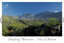 The Sleeping Warrior - Isle of Arran Postcard (H A6 LY)